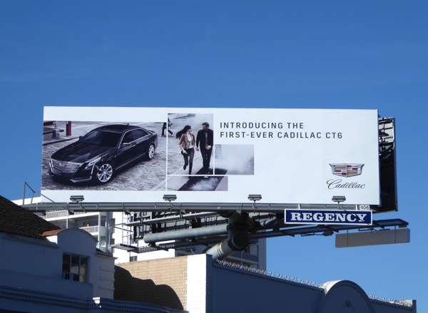 Cadillac CT6 car billboard