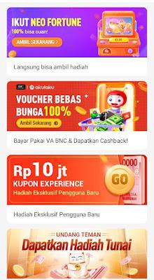 cara mendapatkan uang dari Neo+ Plus tanpa mengundang teman dapat saldo aplikasi Bank BNC Commerce