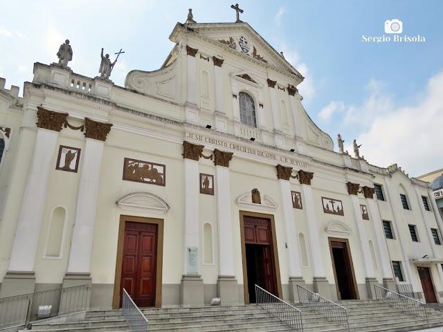 Vista ampla da Paróquia São Paulo da Cruz - Igreja do Calvário - Pinheiros - São Paulo