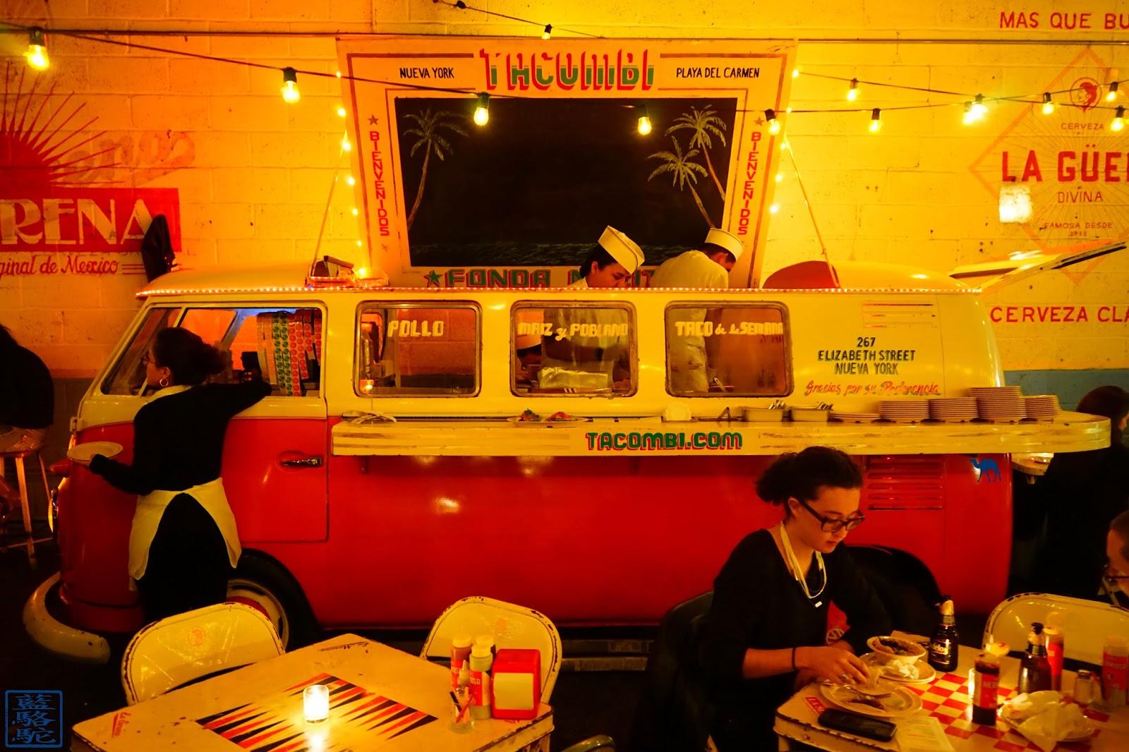 Le Chameau Bleu - Tacombi - Camionnette - Resto mexicain New York USA