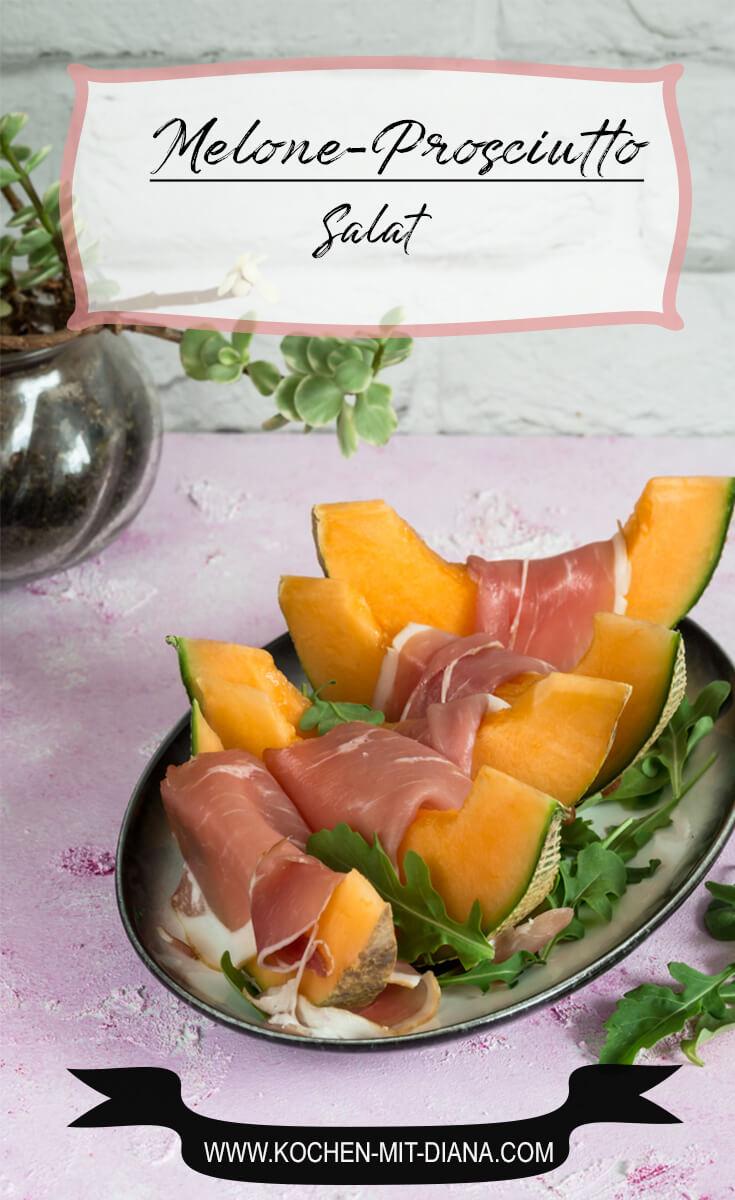 Melonen-Prosciutto Salat