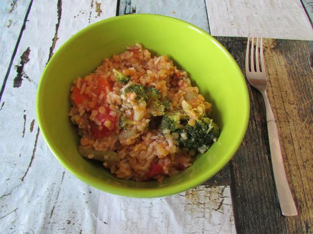 Ryż z soczewicą i warzywami