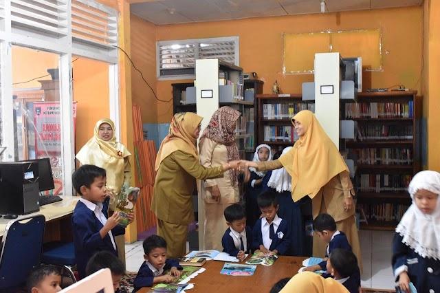 PAUD Islam Terpadu Raudhatul Jannah,Sambangi Perpustakaan Daerah Payakumbuh
