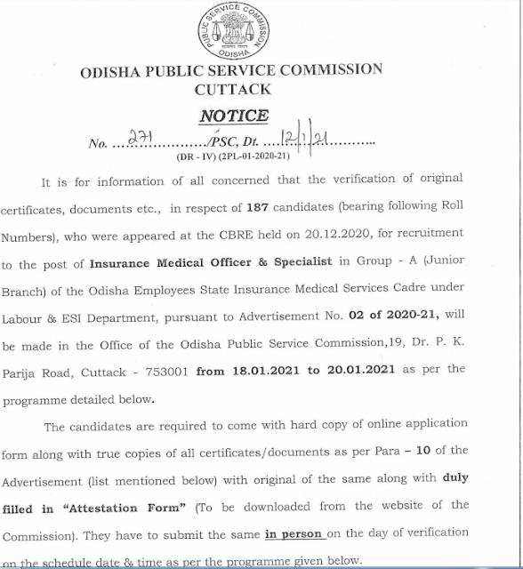 Odisha Group A & B 392 Recruitment 2021