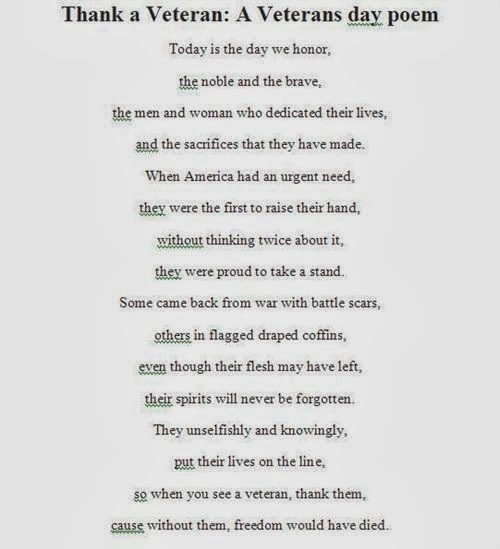 1 Quote: Veterans Day Poems Holiday
