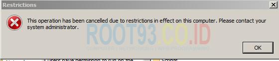semua file exe tidak bisa dijalankan