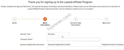 cara daftar program afiliasi lazada 2021