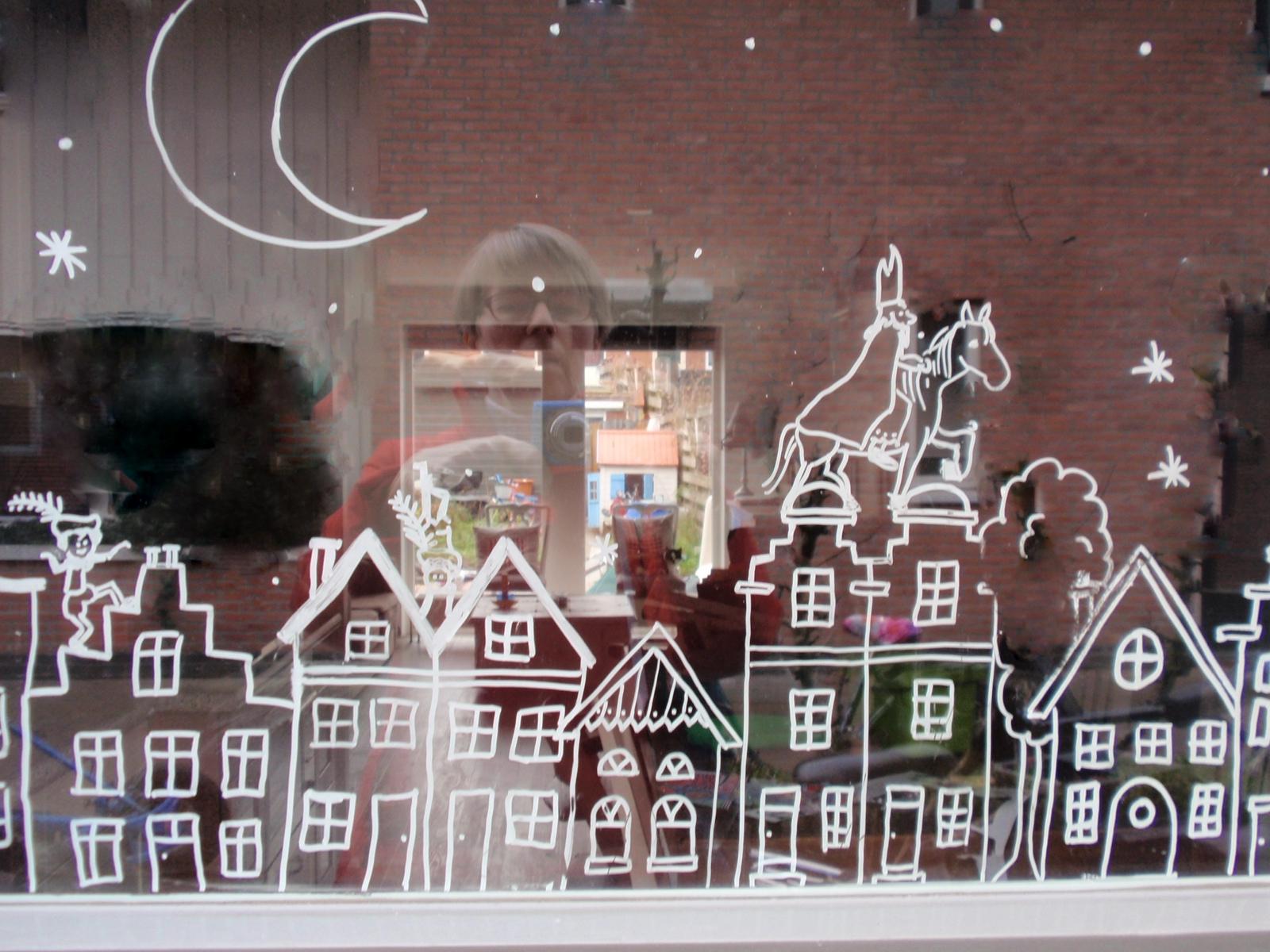 Krijtstift voor op het raam for Decoratie voor de raam