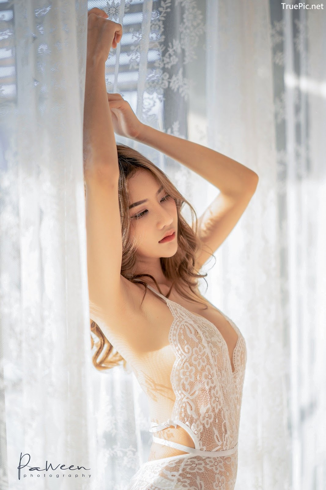 Image Thailand Model - Atittaya Chaiyasing - White Lace Lingerie - TruePic.net - Picture-7