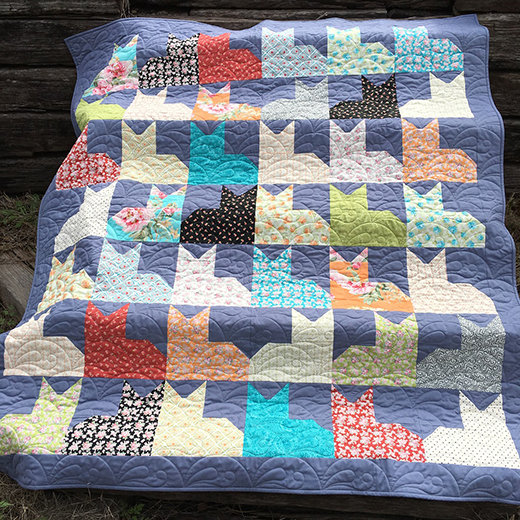Pins and Paws Cat Quilt Designed by Sew Knit Caffeinate, The Tutorial by Jenny Doan of Missouri Star Quilt Co
