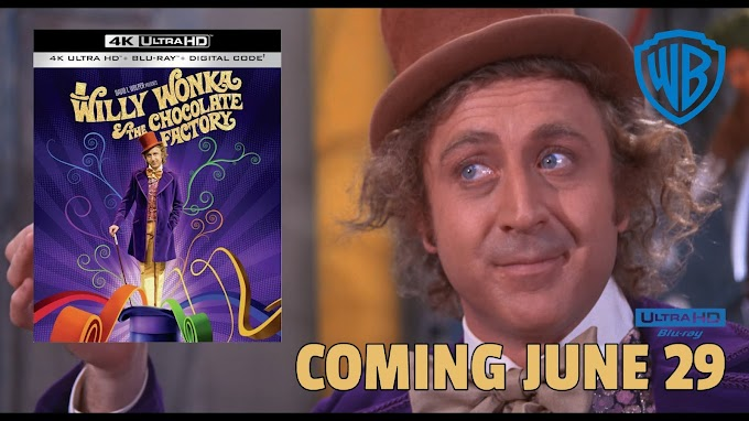 Willy Wonka & The Chocolate Factory Official Release Date on 4K Ultra HD June 29 (Warner Bros.)