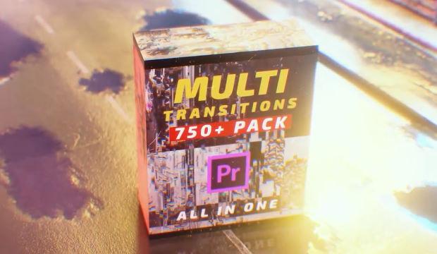 Premiere Pro  Multi Transitions Pack 750+