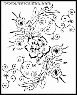 3 ideas for embroidery flowers designs patterns drawings and sketches on tracing paper