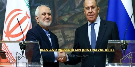 Iran and Russia begin joint naval drill