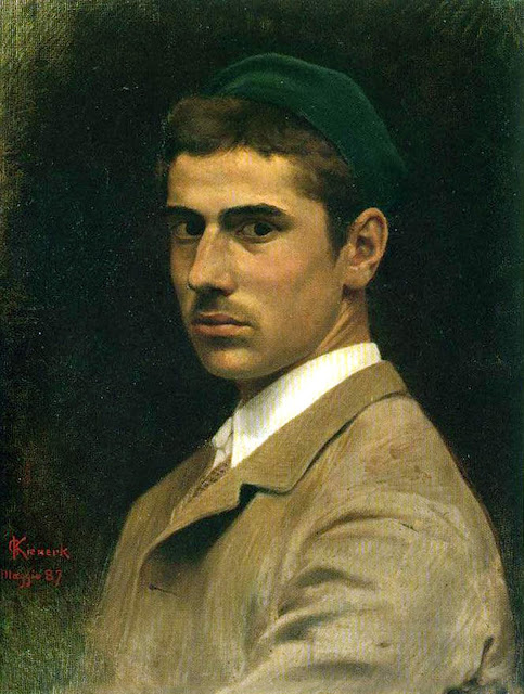 Giorgio Kienerk, Self Portrait, Portraits of Painters, Fine arts, Portraits of painters blog, Paintings of Giorgio Kienerk, Painter Giorgio Kienerk
