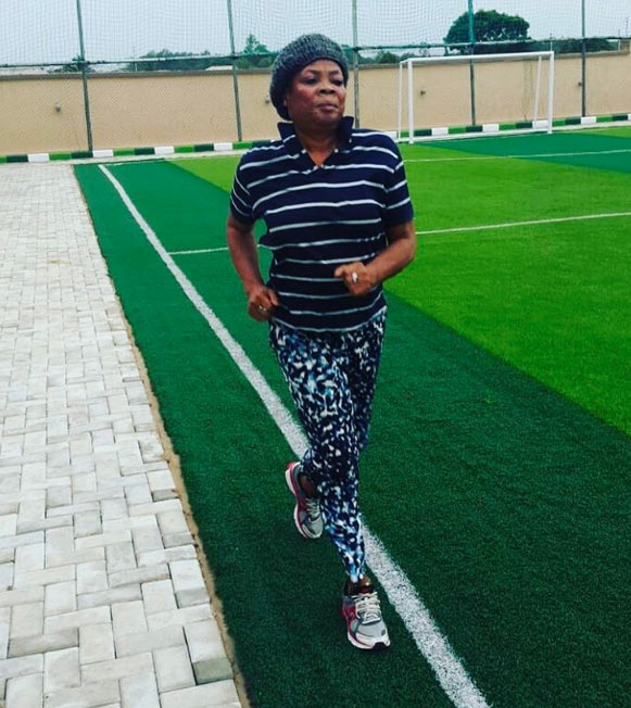 """""""Sweet Mum"""" - Ahmed Musa hails his mother as she keeps fit"""