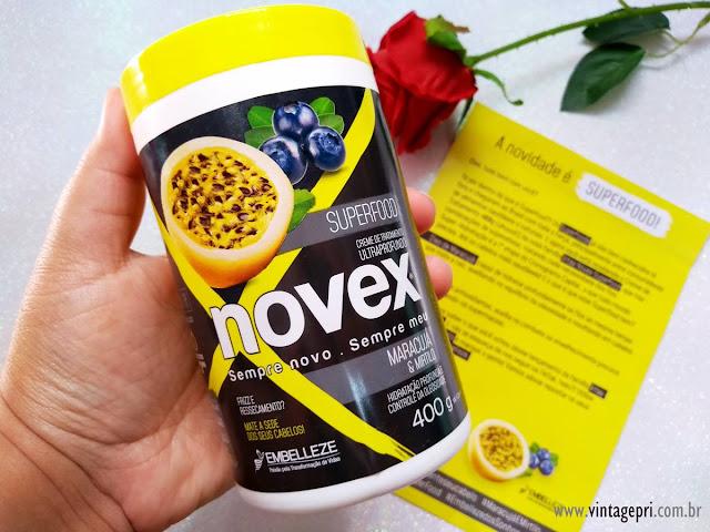 #Testei: Creme de Tratamento Novex Superfood Maracujá Mirtilo (Embelleze)