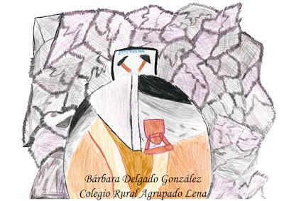 Dibujo de la Mina La Soterraña, Bárbara Delgado González
