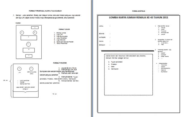 Contoh Format Proposal Karya Tulis Ilmiah