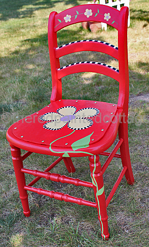 The Red Painted Cottage Whimsical Flowers