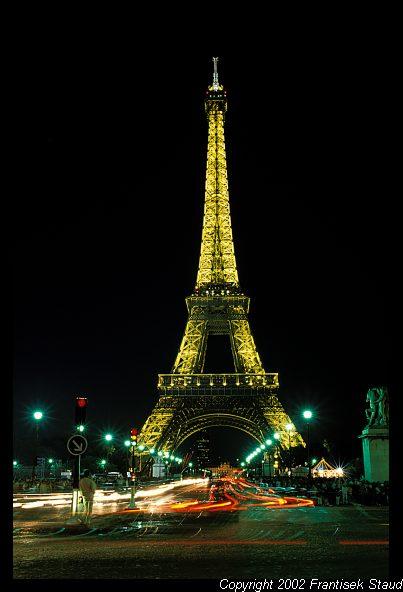 paris night tower eiffel france papa kantri posted am
