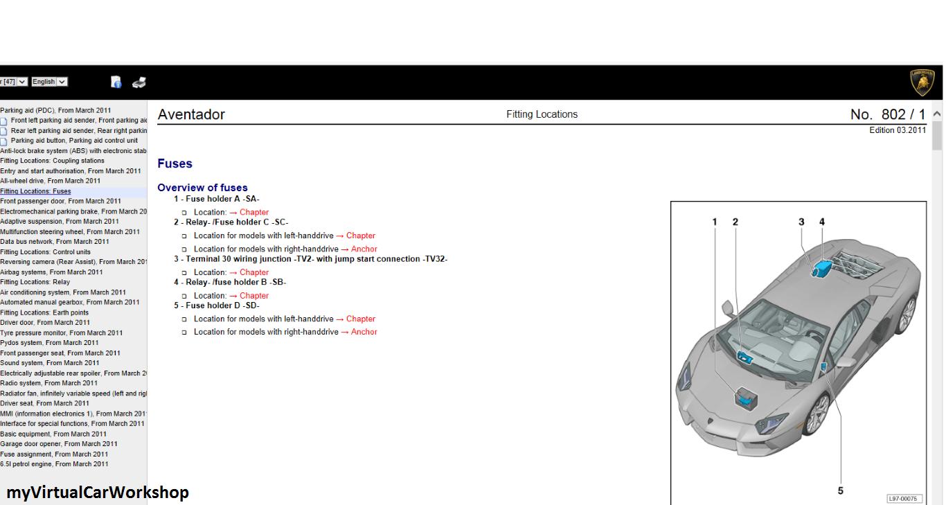 myvirtualcarworkshop sneak view with lamborghini aventador wiringclick to enlarge image [ 1366 x 729 Pixel ]