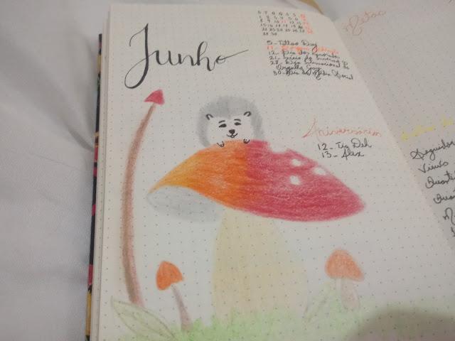 Mushrooms bullet journal
