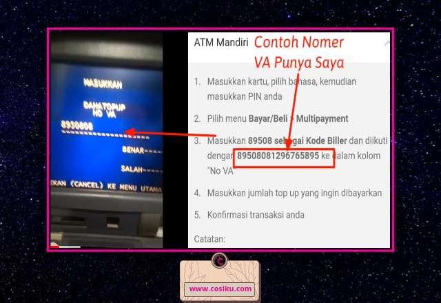 Cara Top Up Dana Melalui ATM Bank Mandiri & Mandiri Online