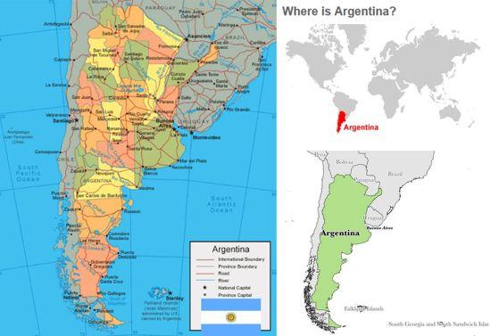 peta dan profil argentina