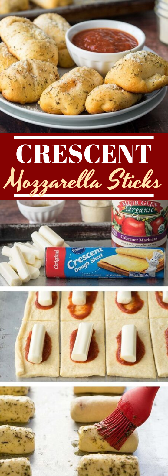 Crescent Mozzarella Sticks #appetizers #recipe #partyfood #lunch #easy