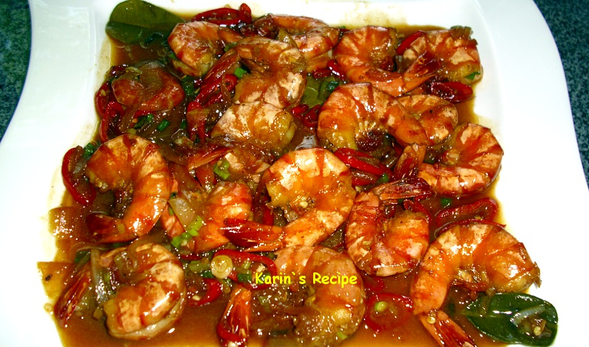 Karin S Recipe Udang Masak Madu Jahe Honey Ginger Prawn