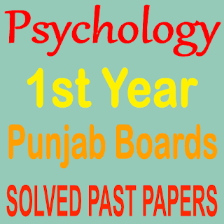 1st Year Old Papers Psychology Short And Long Question Answers Punjab Board