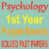 1st Year Psychology Punjab Board Past Papers