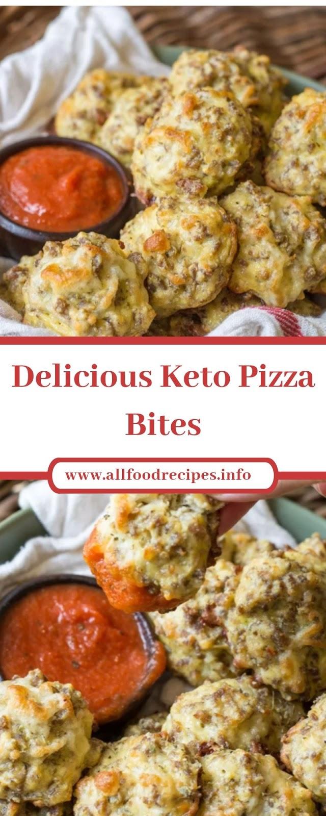 Delicious Keto Pizza Bites