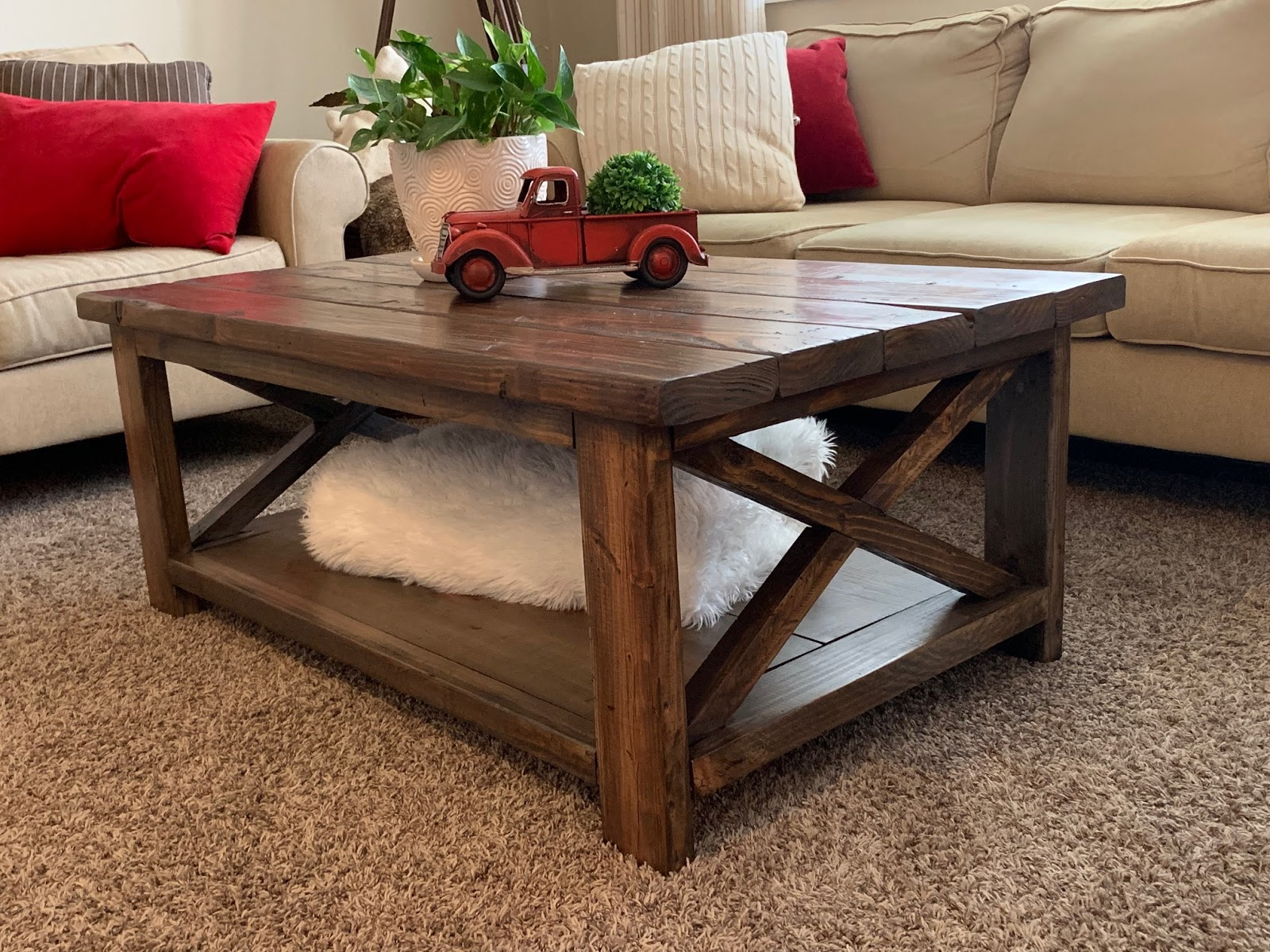 red hen home rustic x coffee table