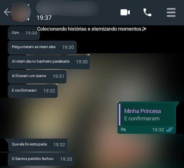 Mãe descobriu por mensagem no WhatsApp que filha de 9 anos foi estuprada em SP