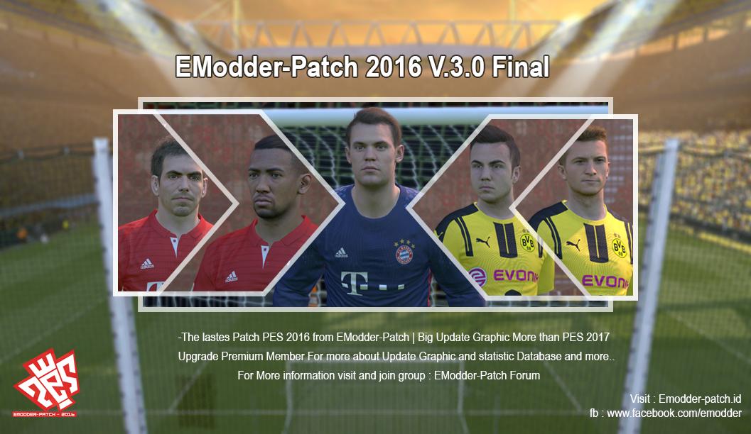pes16 EModder-Patch 2016 v.3.0 Final