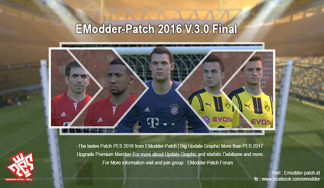 [PES 2016 PC] EModder-Patch 2016 v.3.0 Final Edition AIO - Released #31/12/2016
