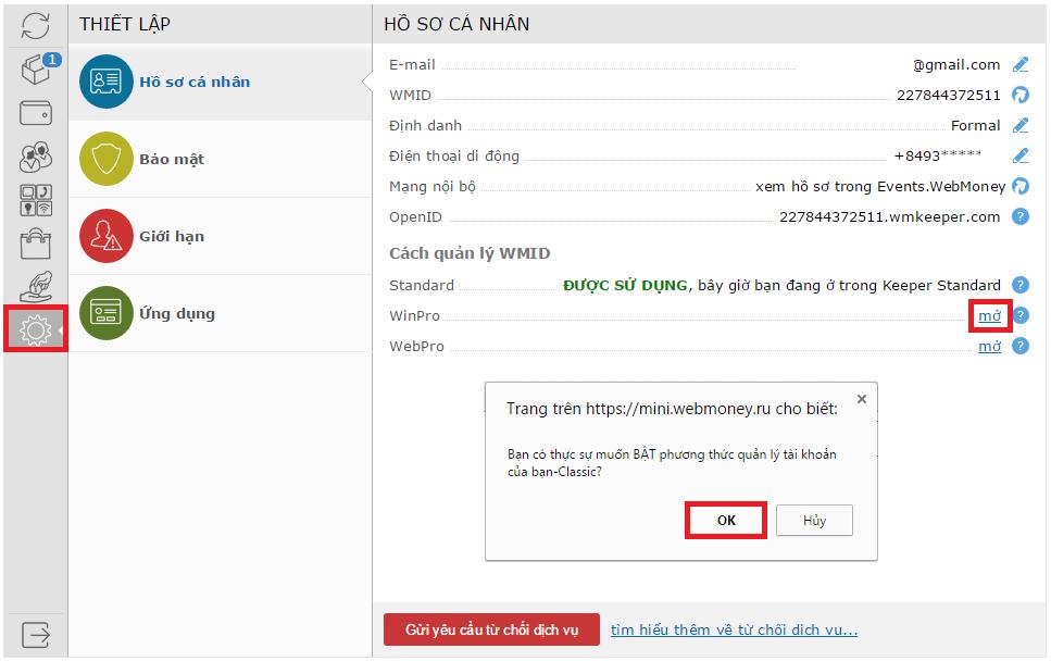 Hướng dẫn nâng cấp ví điện tử Webmoney Z