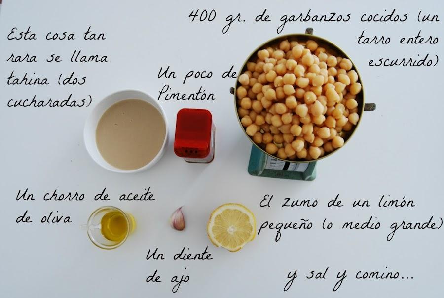 receta fácil de hummus para cocineras perezosa