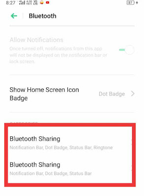 Allow Bluetooth to share data