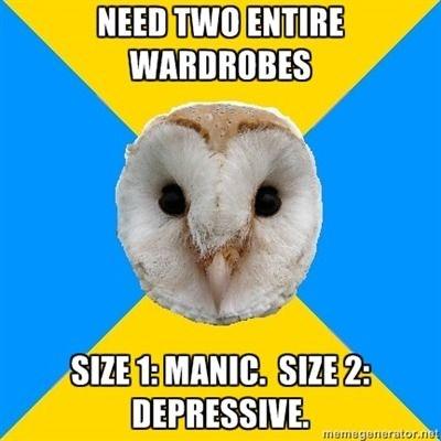 bipolar owl wardrobe weight gain and loss