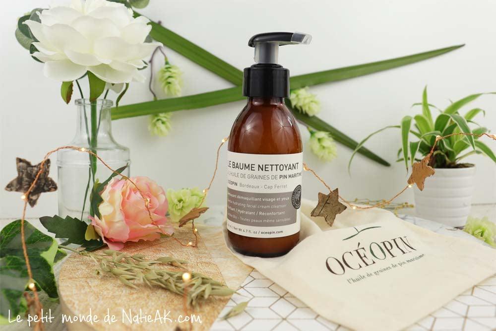 baume nettoyant démaquillant Océopin huile de graines de pin maritime