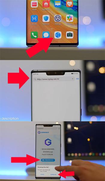 تحميل خدمات جوجل لتثبيت على جوال Huawei Mate 30 Pro