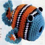 patron gratis pez Nemo amigurumi | free pattern amigurumi Nemo fish