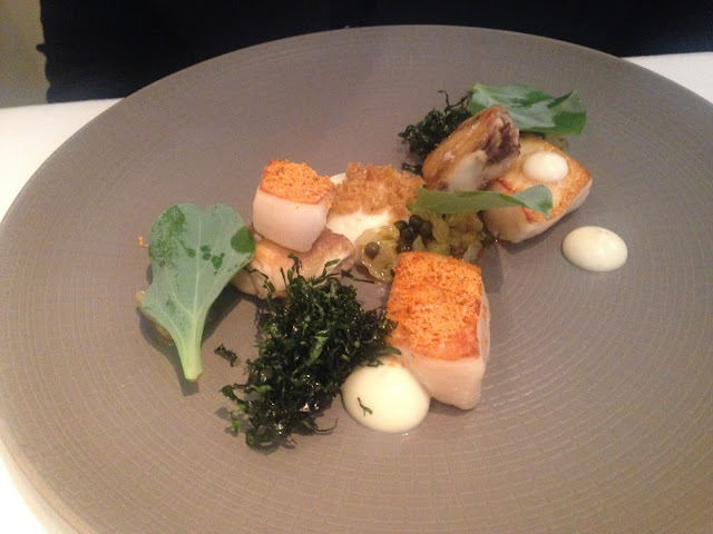 Scallop & Wings - Cauliflower & Truffle Dressing.