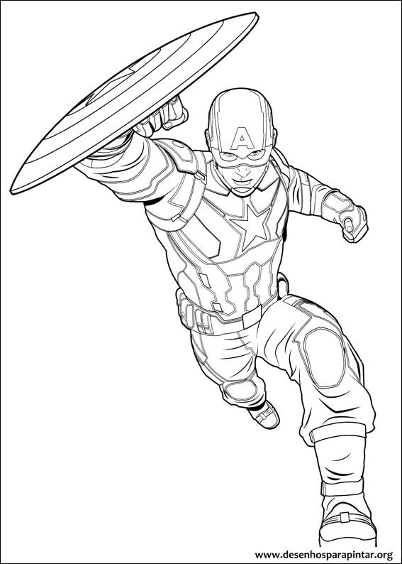 Coloring pages for kids free images: captain america civil ...
