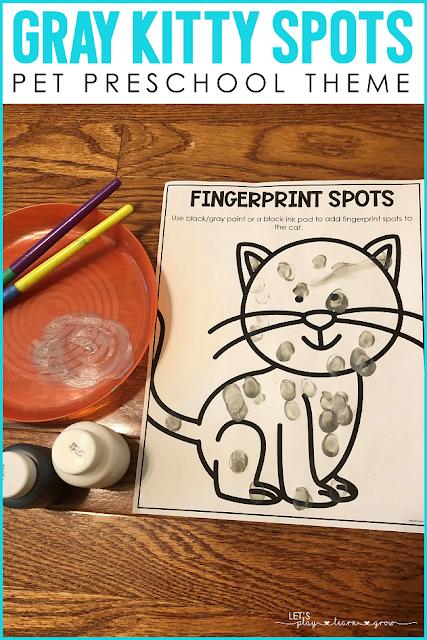 Painting spots Preschool pets