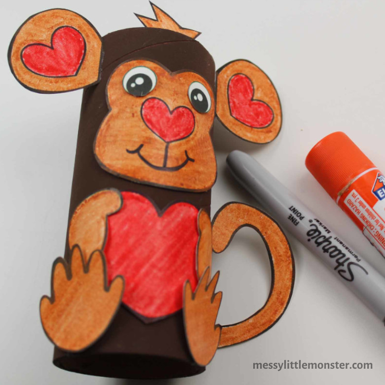 monkey craft for preschoolers