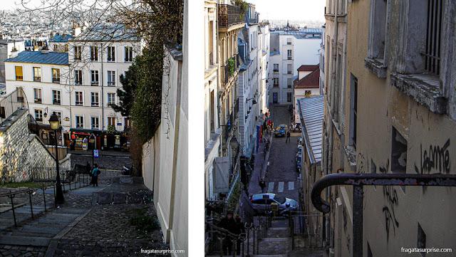 Escadarias de Montmartre, Paris